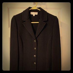 St John black suit. Skirt and jacket